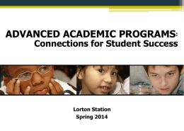 Level IV Orientation Spring 2014 (PPT)
