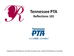 Tennessee PTA Reflections 101