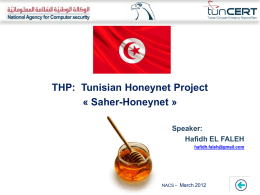 HP Workshop 2012: Tunisian chapter Update