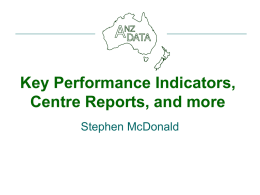 Key Performance Indicators, Centre Reports, and more