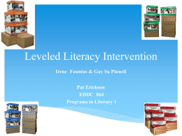 Leveled Literacy Intervention - Power Point