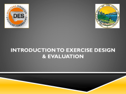Introduction to Exercise Design & Evaluation