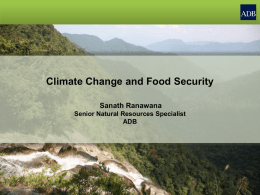 Climate Change and Food Security by Sanath Ranawana, Senior