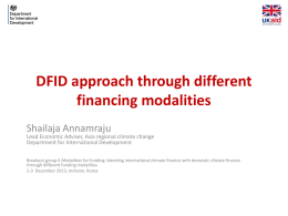 Cons - Climate Change Finance and Development Effectiveness
