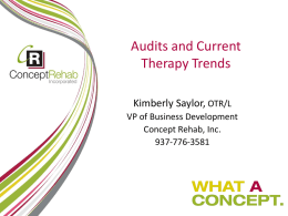 Therapy Audits and Updates Final 2013