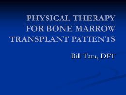 physical therapy for bone marrow transplant patients
