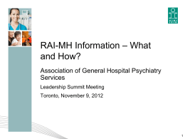 RAI-MH Information * What and How?