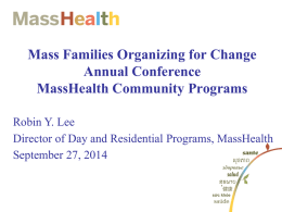 MassHealth Community Programs
