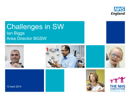 Challenges facing the South West