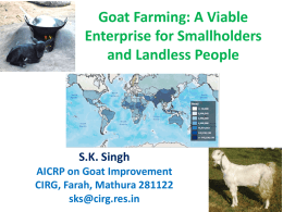 A Viable Enterprise for Smallholders and Landless People