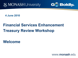 here - Administration, Monash University