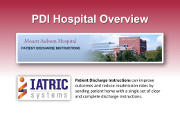 PDI-Patient Discharge Instruction