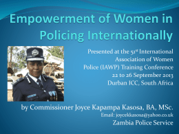 Empowering women in policing 225.09.13