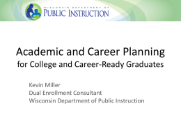 ACP Presentation - Wisconsin Statewide Transition Initiative