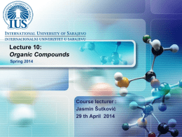 CHEMISTRY Lecture 10 Slides - International University of Sarajevo