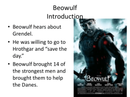 The Battle with Grendel Introduction - BritLit