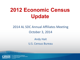 2012 Economic Census Update - Center for Business and Economic