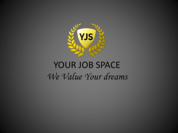 Travel Packages - Your Job Space