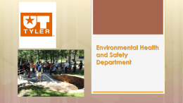 Environmental Health & Safety - The University of Texas at Tyler