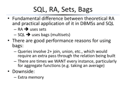 Extended Relational Algebra for SQL Slides