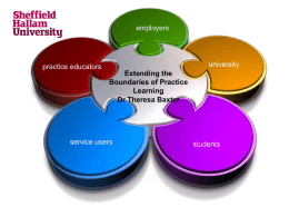 4 Extending the Boundaires of Practice Learning – Theresa Baxter