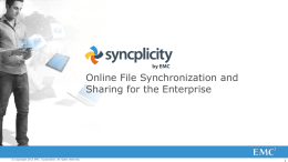 Online File Synchronization and Sharing for the