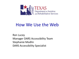 Accessibility of Electronic and Information Resources