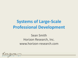 Systems of Large-Scale Professional Development
