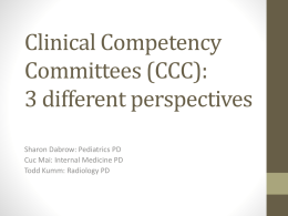 Clinical Competency Committees: 3 different