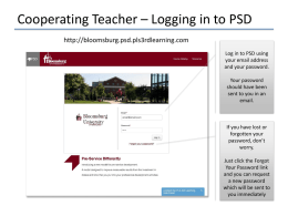 PSD Troubleshooting