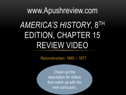 America`s History Chapter 15