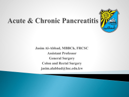 Acute and chronic pancreatitis