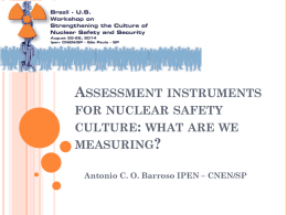 Assessment instruments for safety culture: what are we
