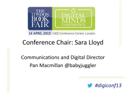 digiconf13 - The London Book Fair