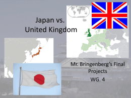 Final Project example, Japan v UK