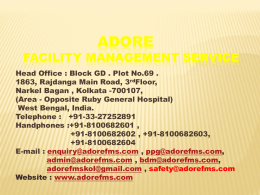 Adore facility Management Services