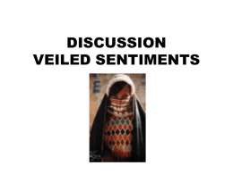 DISCUSSION VEILED SENTIMENTS - Facultypages.morris.umn.edu