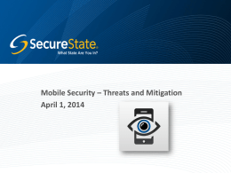Mobile Security - ISSA: Pittsburgh Chapter