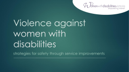 Violence against women with disabilities