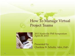 How To Manage Virtual Project Teams