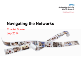 NIHR Seminar Navigating the network