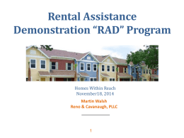 """RAD"" Program - Housing Alliance of Pennsylvania"