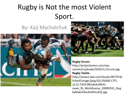 Rugby is Not the most Violent Sport