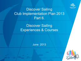 Chapter 6 - Discover Sailing Experiences