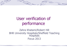 Verification presentation - focus