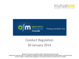 Conduct regulation, roundtable and discussion