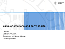 Knutsen-Value orientations and party choice