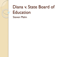 Diana v. State Board of Education, 1973