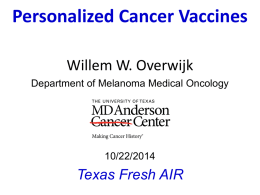 Personalized Cancer Vaccines