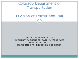 Mark Imhoff - Colorado DOT